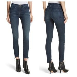 FRAME Denim Le High Skinny Raw Stepped Hem Jeans